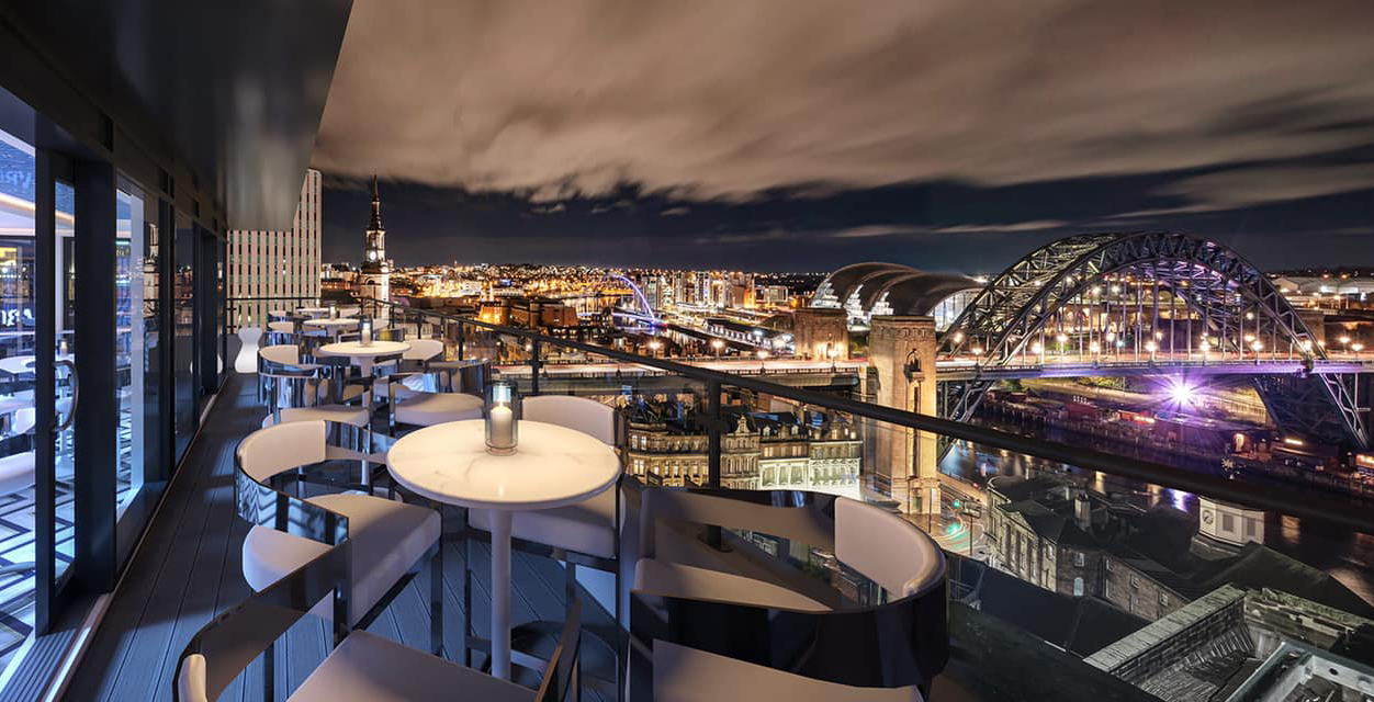 Restaurants with a view in NewcastleGateshead