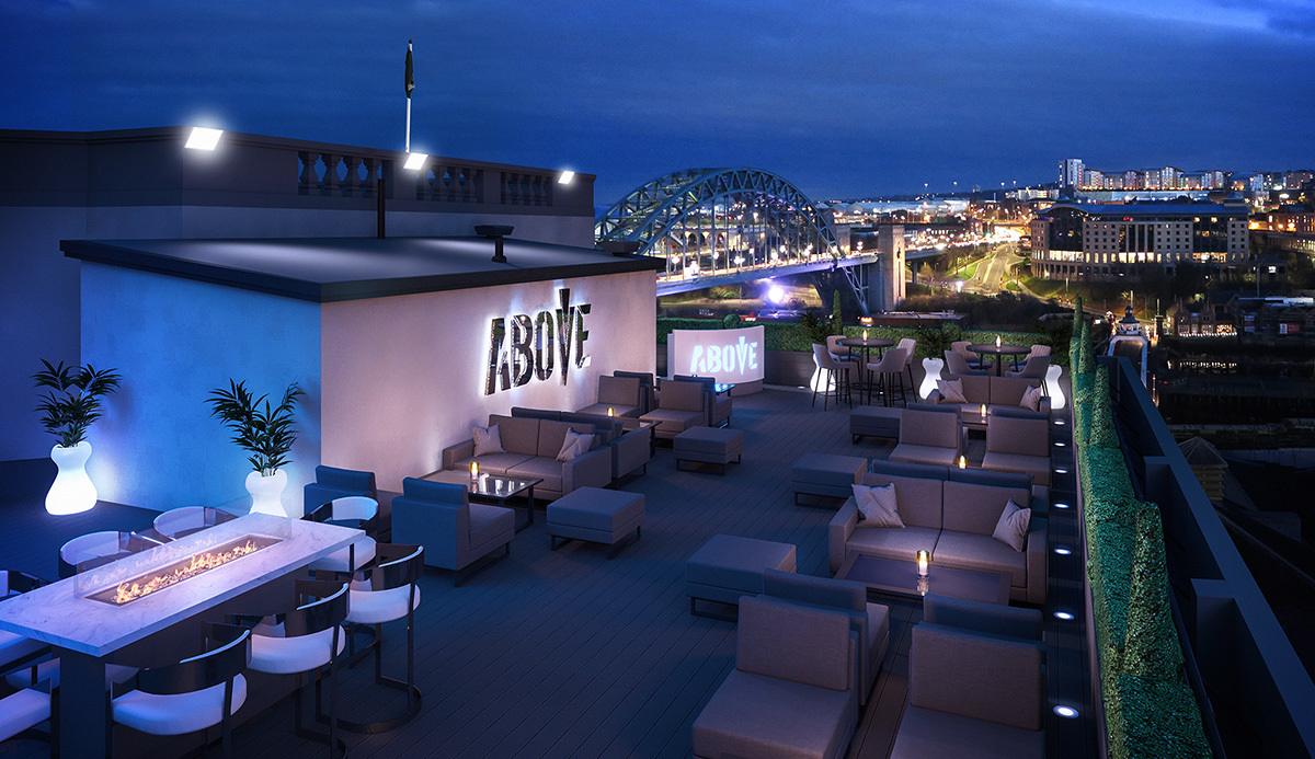 Rooftop bars in Newcastle