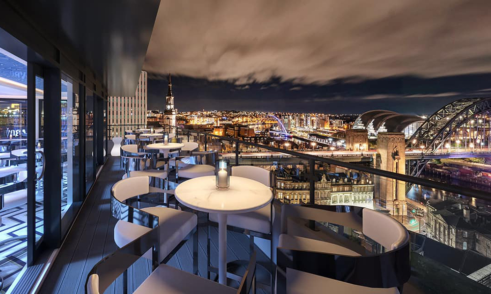 ABOVE Newcastle Rooftop bar The Vermont Hotel Imagery by EYELEVEL Creative