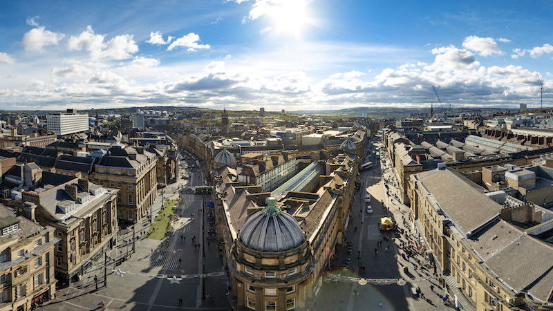 BLOG Newcastle historic city centre view from Greys Monument C Newcastle Gateshead Initiative