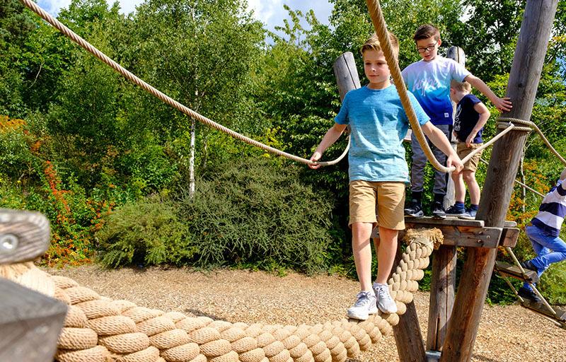 Children in play area WWT Washington Wetland Centre Family Friendly Newcastle Gateshead
