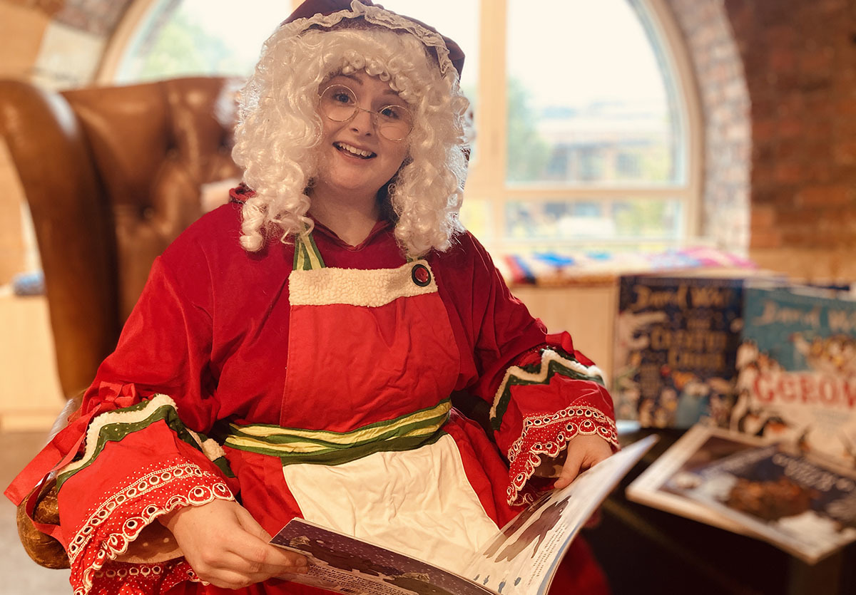Mrs Clause at Seven Stories