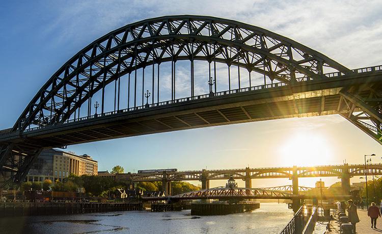 Seven Iconic Bridges over River Tyne Newcastle Gateshead Quayside