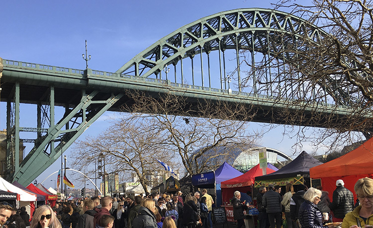 Sunday Quayside Market Newcastle Gateshead Quayside copy