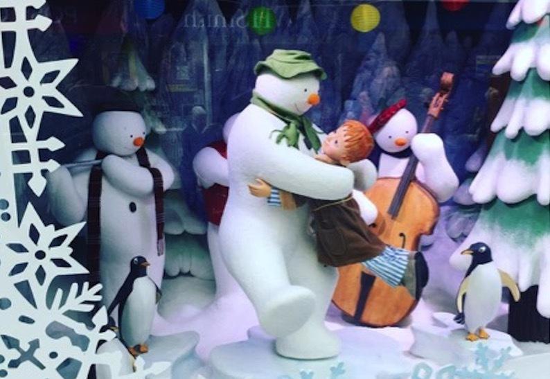 The Snowman by Raymond Briggs Fenwick Christmas Window Newcastle 2018