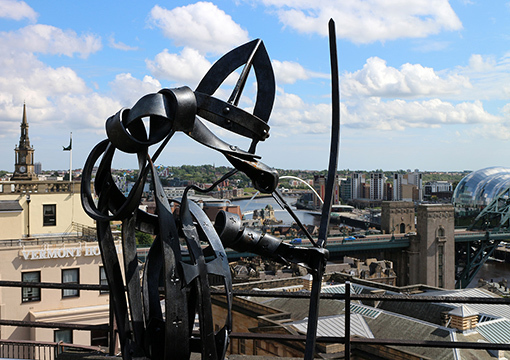 Newcastle Castle from the roof