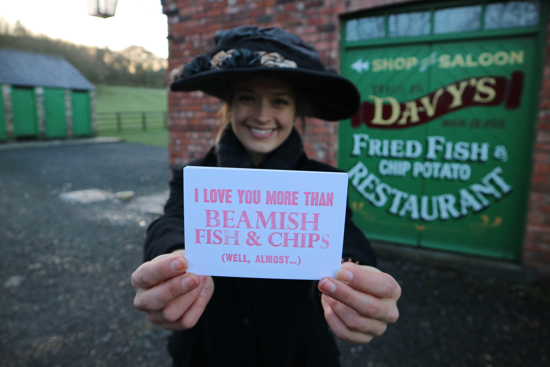 Beamish valentines postcards