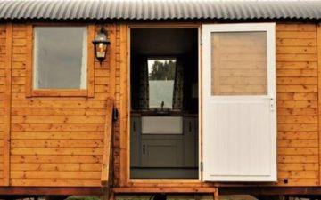 The Shepherd's Hut at Closehead Farm
