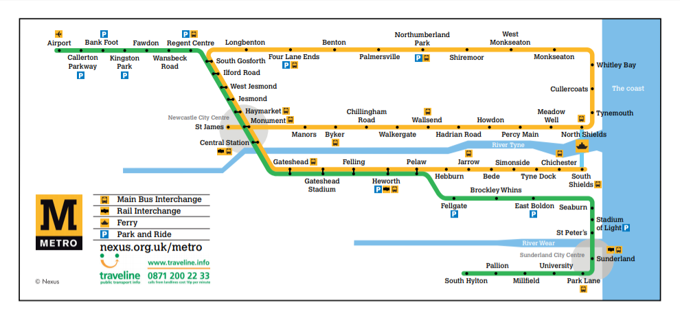 Trains London to Newcastle(Metro) | Cheap Tickets & Times