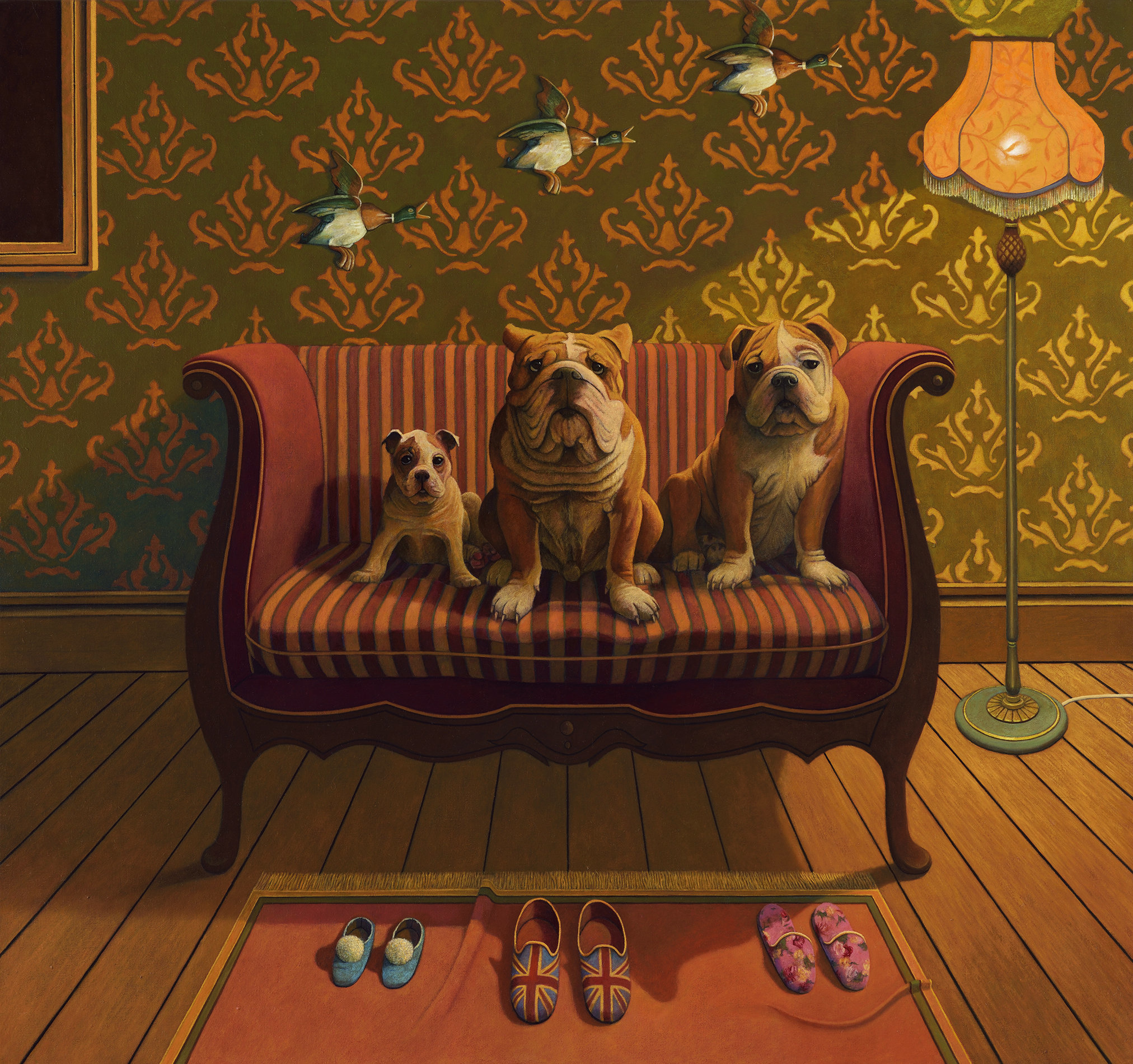 Creature Comforts oil on canvas
