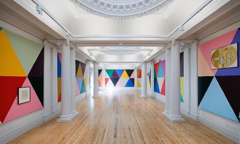 Exhibition SECONDARY Hatton Gallery HERO Lothar Goetz Fairground Abstract 2019