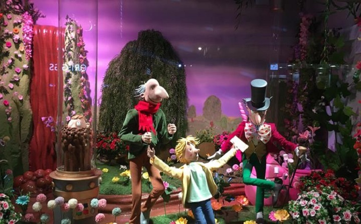 Fenwick Newcastles Christmas Window Resized GIF