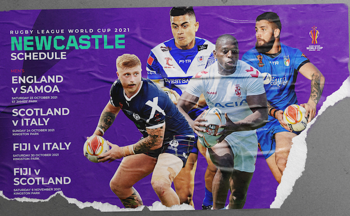 Rugby League World Cup matches hosted in Newcastle 2021