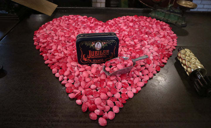 Valentines Day sweets at Beamish Museum