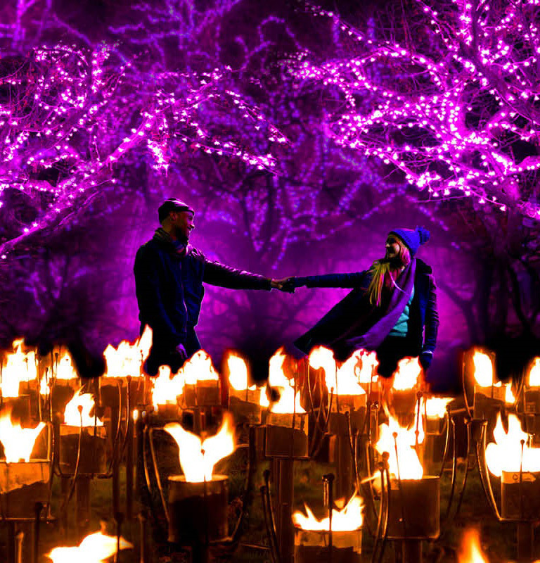 Ignite Light Trail at Gibside Christmas Event page