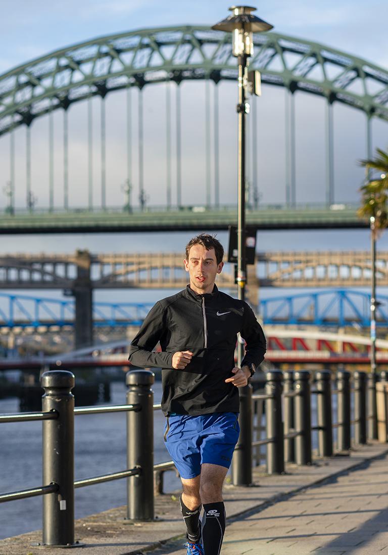 Runner on Newcastle Gateshead Quayside