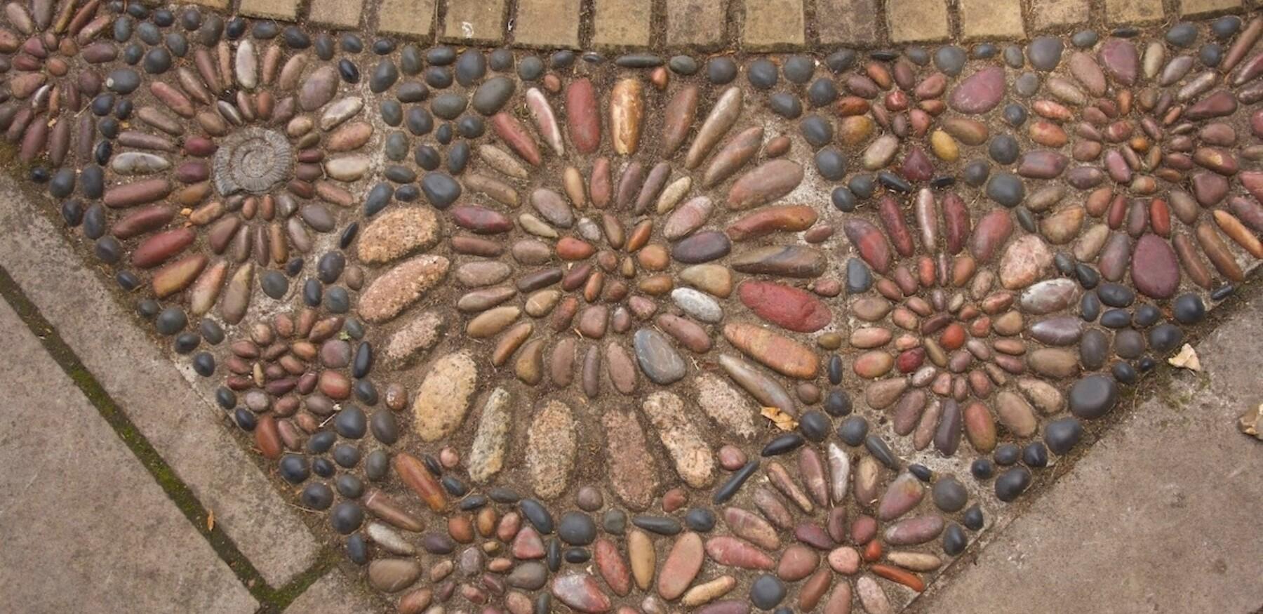 Ammonites Pebble Mosaic