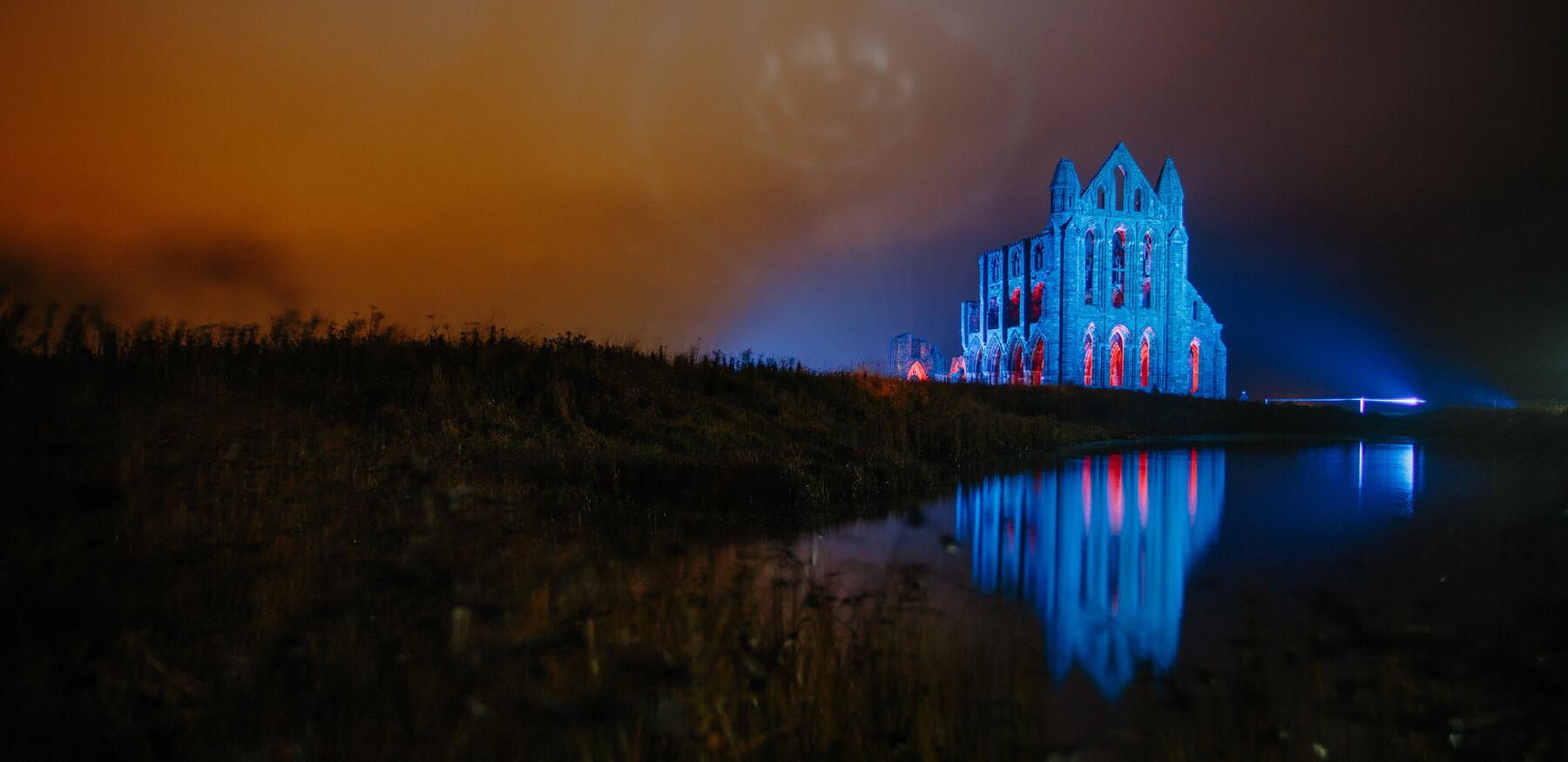 Illuminated Abbey Whitby