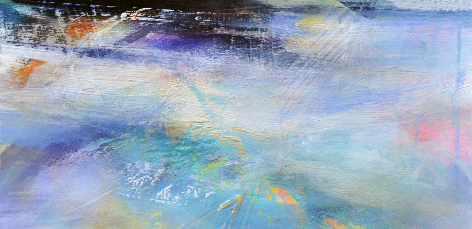 Open Eyes mixed media on canvas 43x43cm