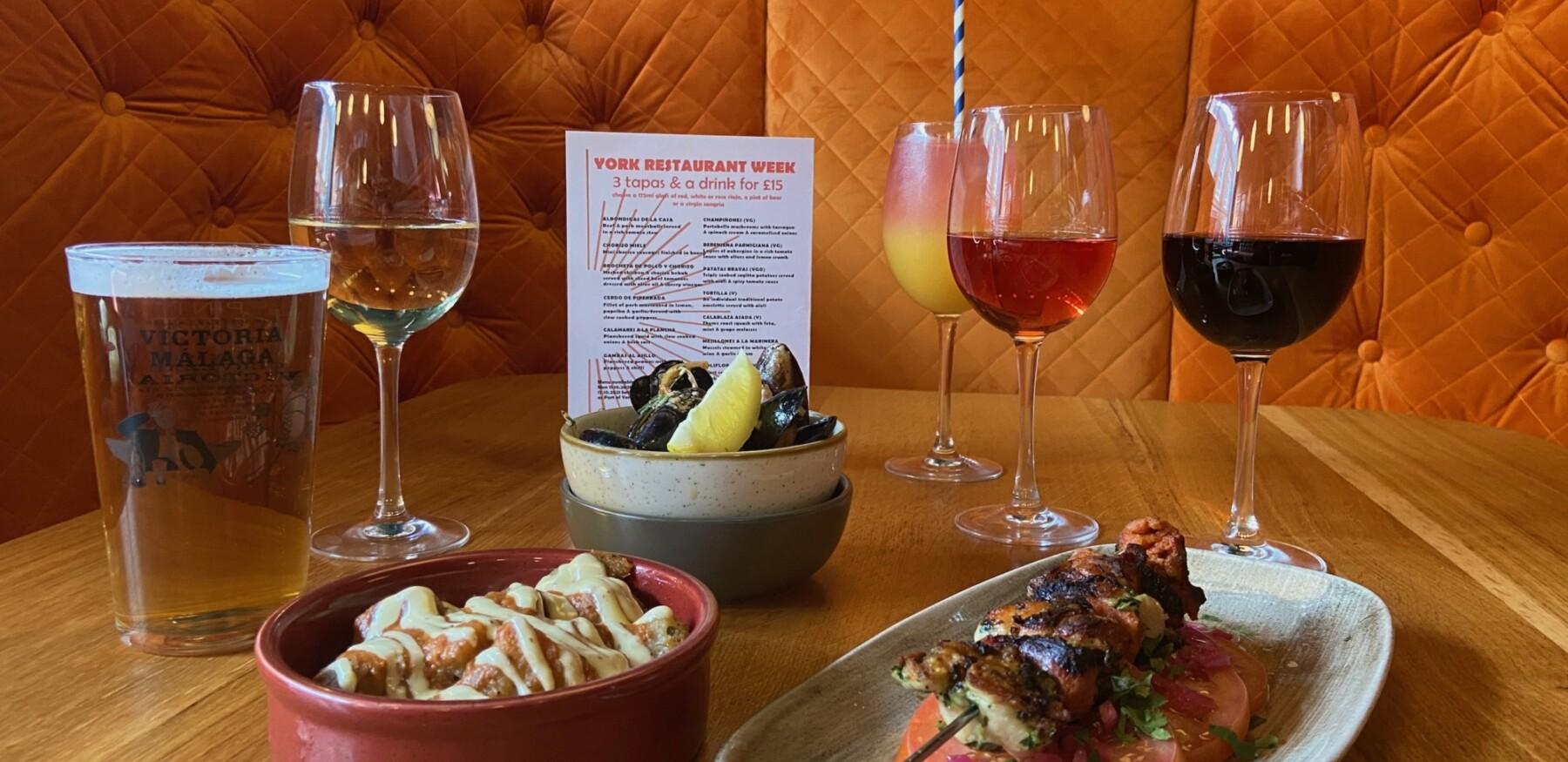 Evening menu food and drinks 4