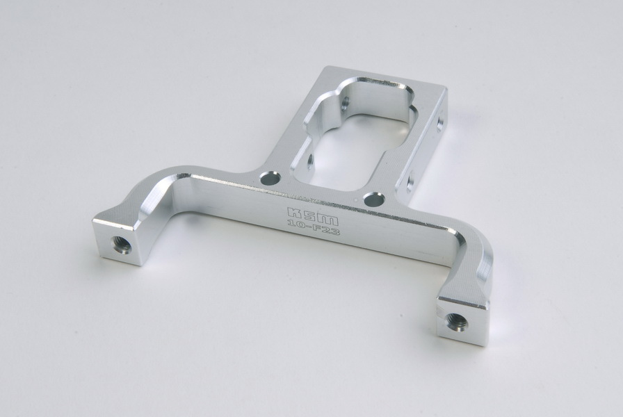 Cyclic main servo mount ALU silver - KSM10-F23
