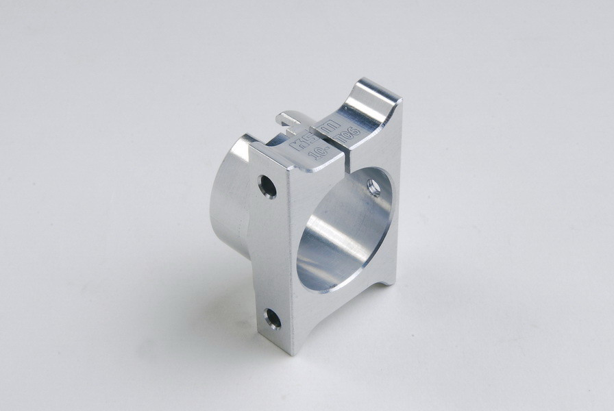 Tail boom clamp front ALU silver - KSM10-T06