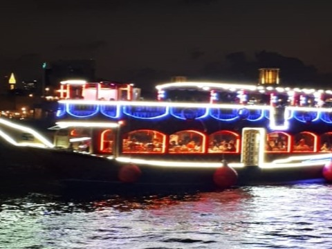 3* Dubai Creek Dhow Dinner Cruise with Live Entertainment from Destination MiddleEast