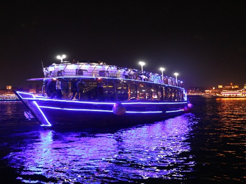 4* VIP Dubai Creek Dhow Cruise Dinner with Live Entertainment At Destination MiddleEast