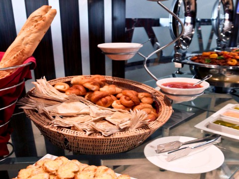 Continental Breakfast buffet At Landmark Rigga Hotel