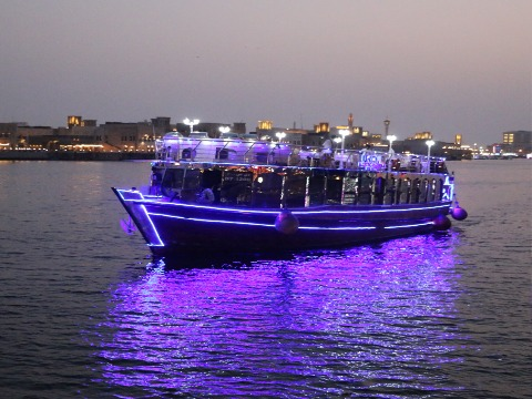 Sunset Creek Cruise with dinner buffet and live Entertainment At Destnation MiddleEast