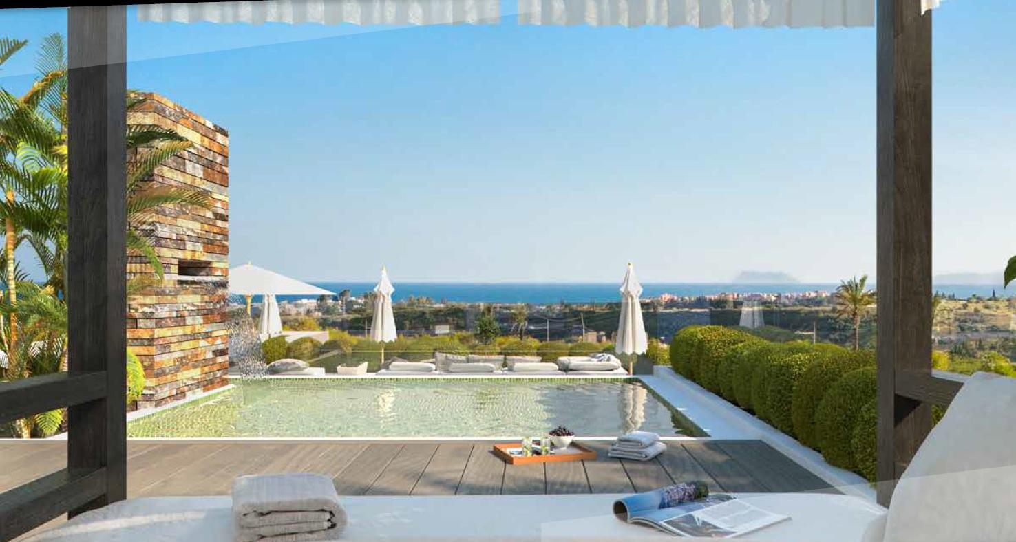 Apartamentos con vistas al mar en Cancelada, Estepona