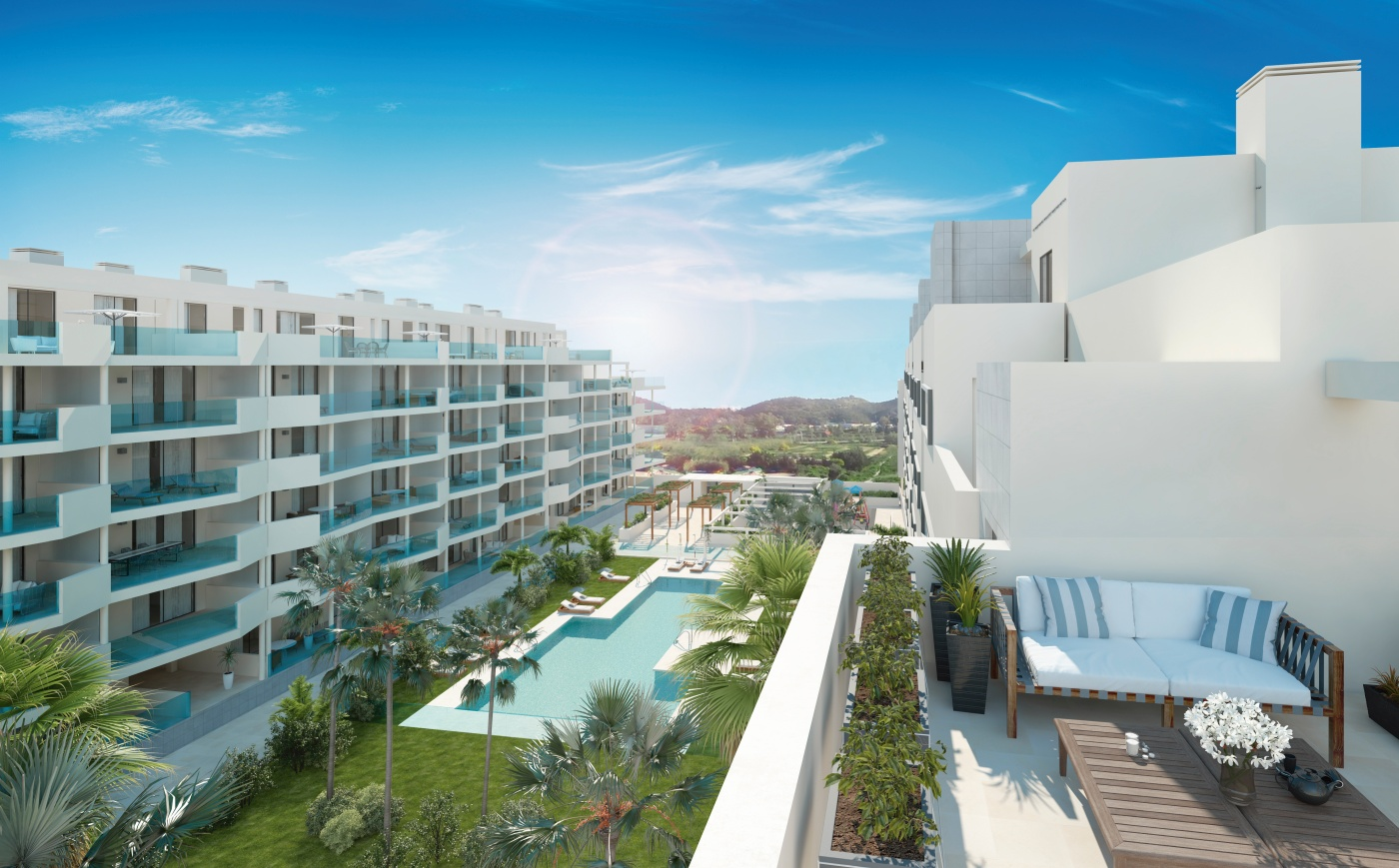 Apartments near shopping sector of Fuengirola
