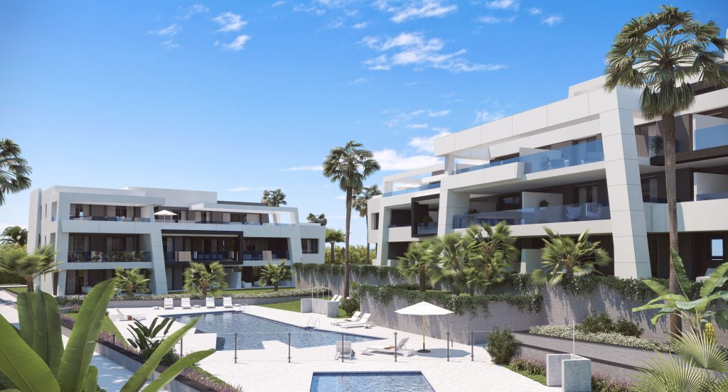 Modern golf apartments and penthouses