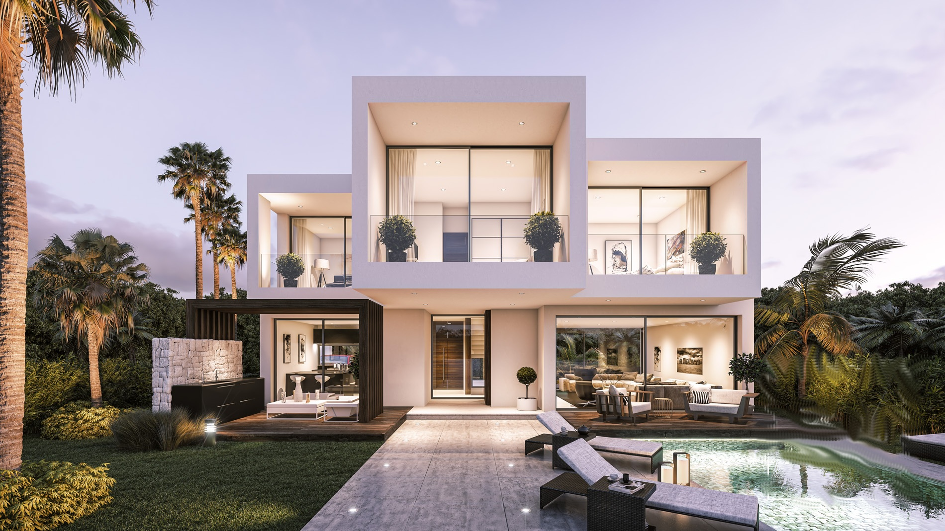 Modern luxury villas 200m from estepona beach
