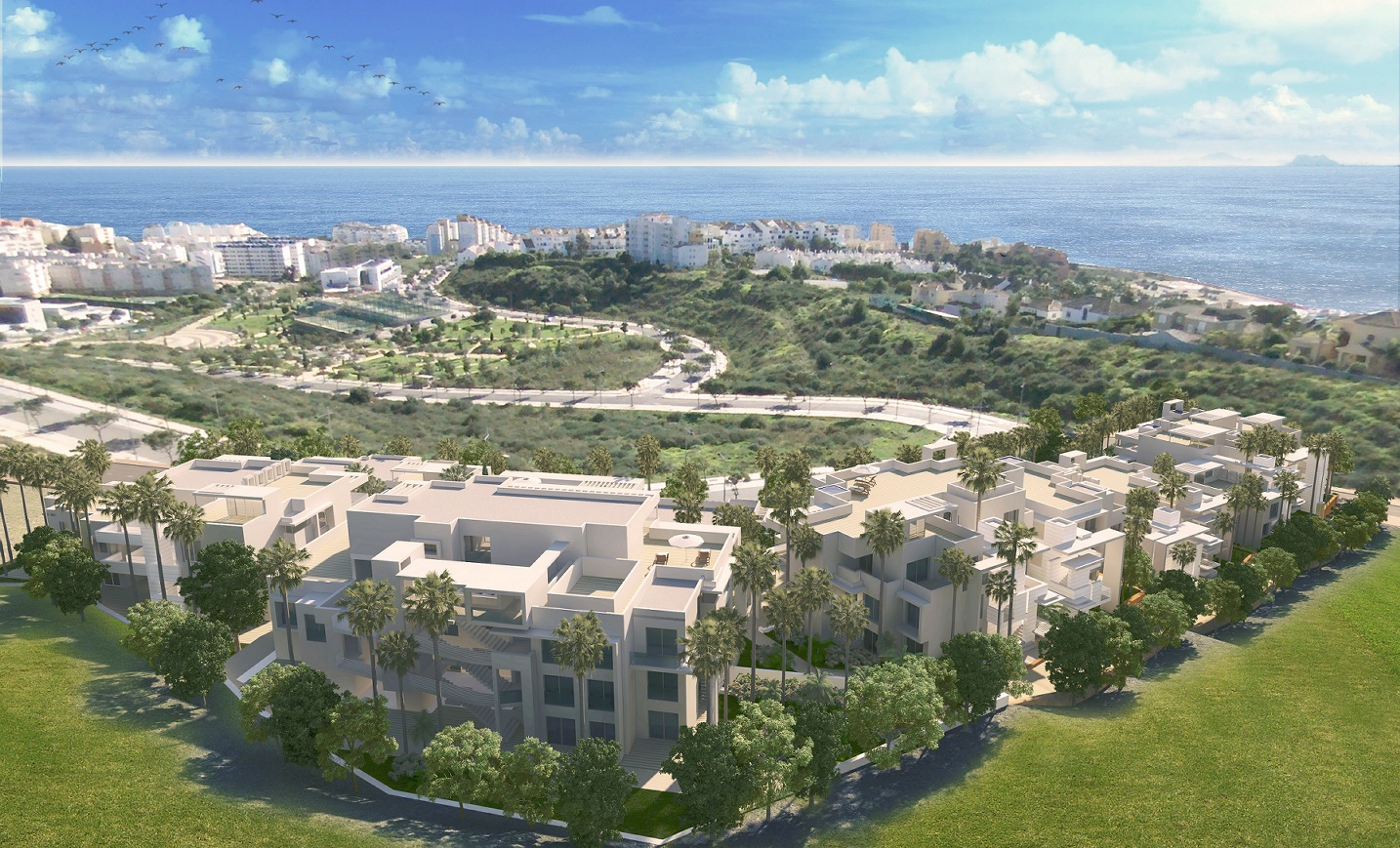 Apartments with sea view in Estepona