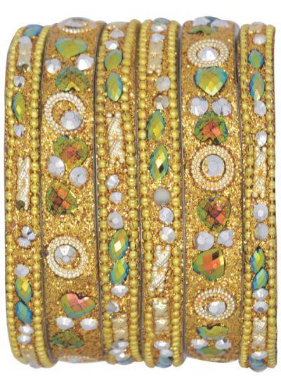 Intricate Sparkle Bangle Set