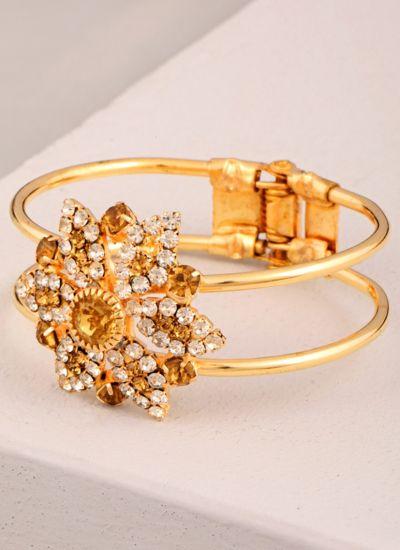 Floral Gold Studded Bracelet