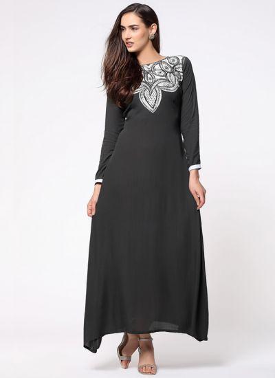 Grey Batik Print Kaftan