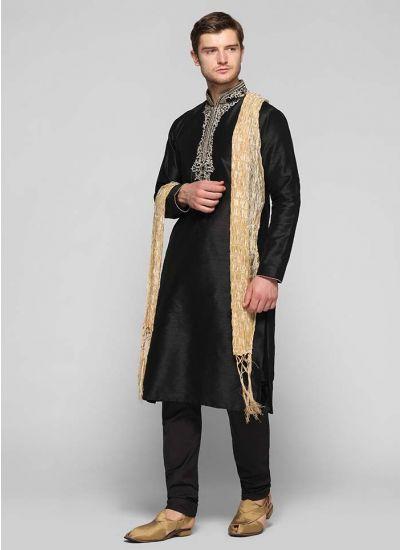 Silk Zari Embellished Kurta Set