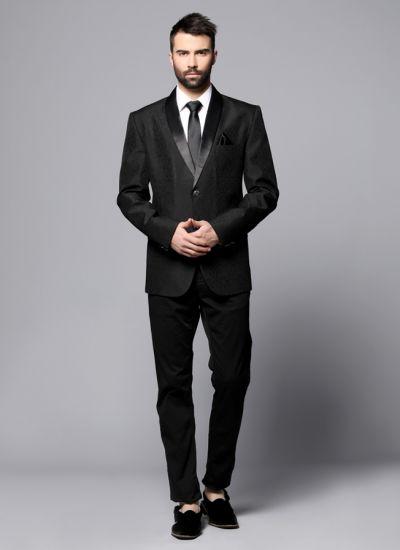 Black Brocade Blazer