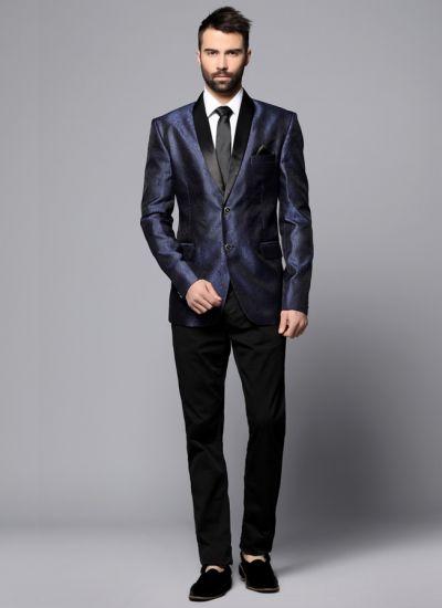 Blue Brocade Blazer