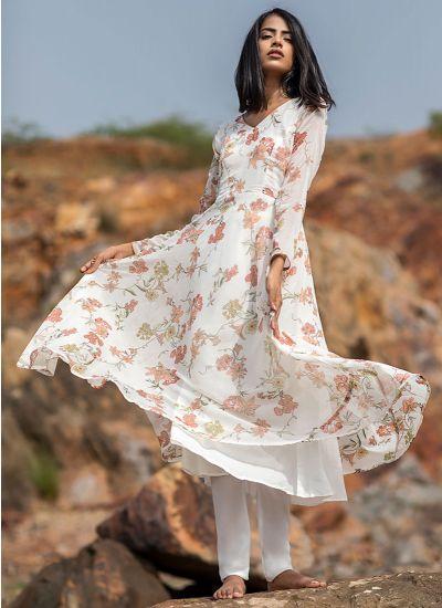 Chintz Printed Bias Dress