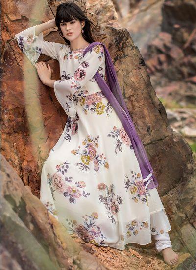 Pastel Printed Bell Dress