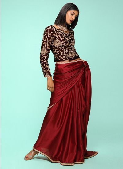 Topaz Zari Embellished Saree