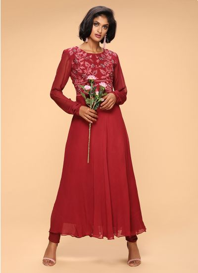 Resham Threaded Flared Suit