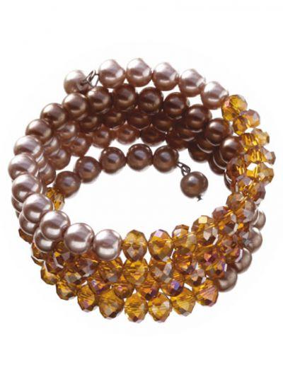 Pearl & Bead Wrap Bracelet