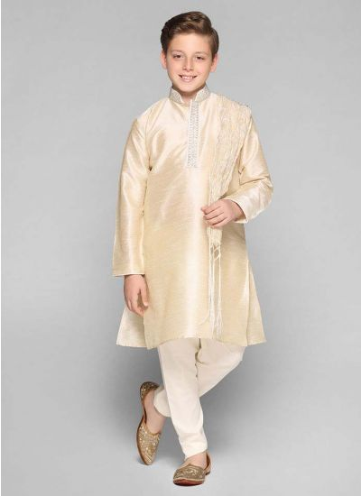 Embellished Band Kurta
