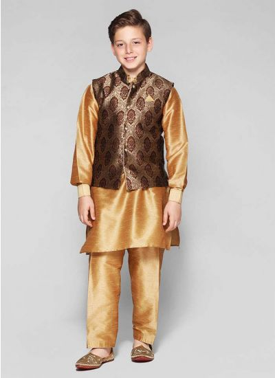 Brocade Jacket Kurta Set