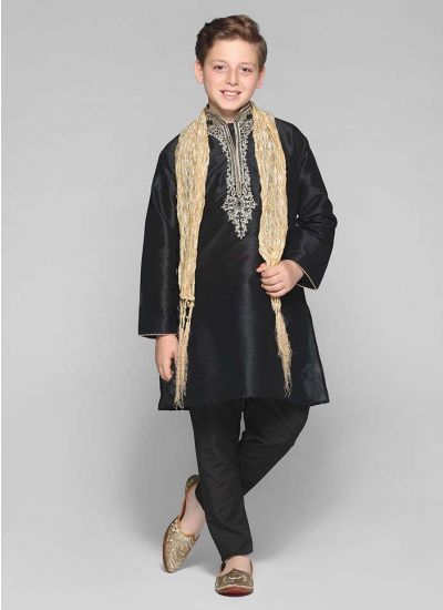 Silk Embellished Kurta Set