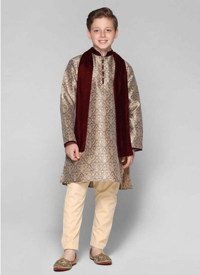 Brocade Embellished Kurta